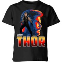 Avengers Thor Kids' T-Shirt - Black - 9-10 Years - Black