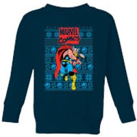 Marvel Avengers Thor Kids Christmas Sweatshirt - Navy - 5-6 Years - Navy
