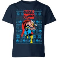 Marvel Avengers Thor Kids Christmas T-Shirt - Navy - 5-6 Years - Navy