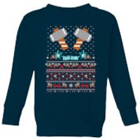 Marvel Avengers Thor Pixel Art Kids Christmas Sweatshirt - Navy - 5-6 Years - Navy
