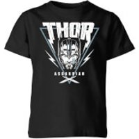 Marvel Thor Ragnarok Asgardian Triangle Kids' T-Shirt - Black - 11-12 Years - Black