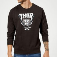 Marvel Thor Ragnarok Asgardian Triangle Sweatshirt - Black - 3XL - Black