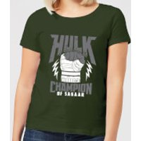 Marvel Thor Ragnarok Hulk Champion Women's T-Shirt - Forest Green - M - Forest Green