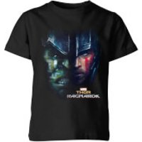 Marvel Thor Ragnarok Hulk Split Face Kids' T-Shirt - Black - 7-8 Years - Black