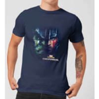Marvel Thor Ragnarok Hulk Split Face Men's T-Shirt - Navy - S - Navy