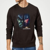 Marvel Thor Ragnarok Hulk Split Face Sweatshirt - Black - 5XL - Black