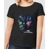Marvel Thor Ragnarok Hulk Split Face Women's T-Shirt - Black - XL - Black