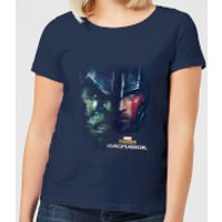 Marvel Thor Ragnarok Hulk Split Face Women's T-Shirt - Navy - M - Navy
