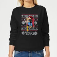 Marvel Thor Women's Christmas Sweatshirt - Black - L - Black